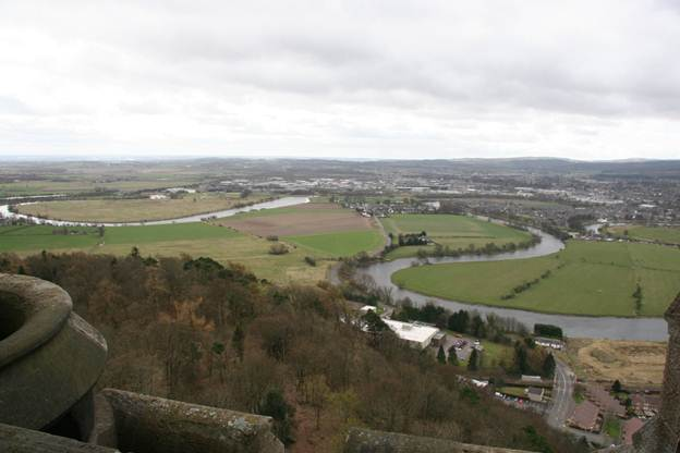 View from the top of William Wallace Monument