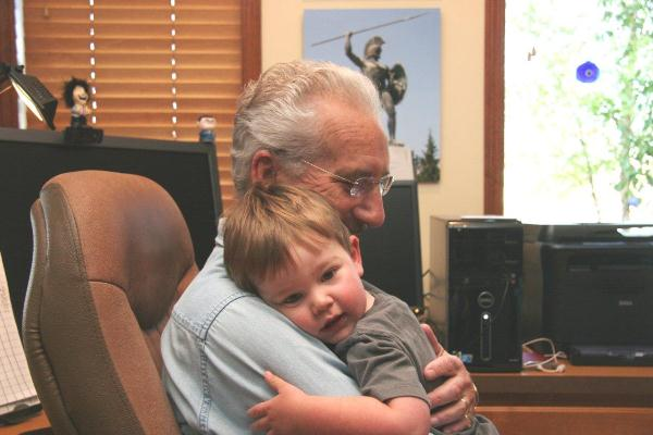 Photo of Al hugging Jack
