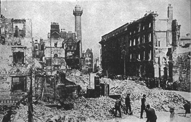Sackville Street in Dublin after the Easter Rising in 1916
