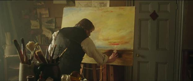 This is Turner painting The Fighting Temeraire