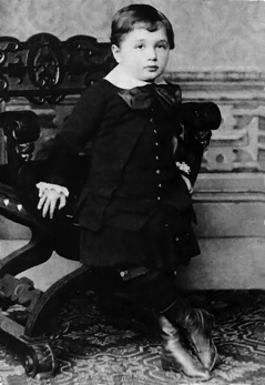 Albert Einstein as a 3-year old