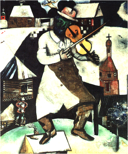 Description: https://upload.wikimedia.org/wikipedia/en/4/4a/Image-Chagall_Fiddler.jpg