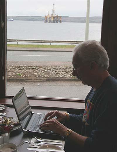 I am writing over breakfast while Westminster makes money drilling Scottish offshore oil.