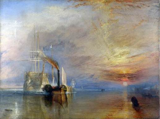 J. M. W. Turner The Fighting Téméraire tugged to her last Berth to be broken