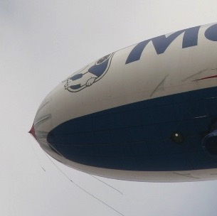 Blimp close up