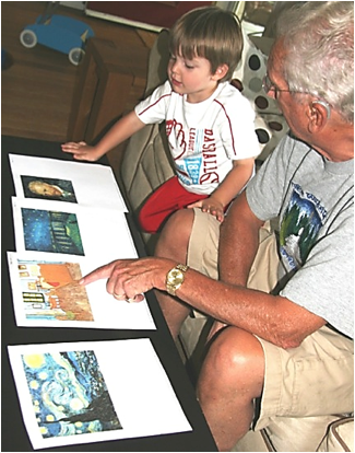 Description: Al and Jack discussing Starry Night