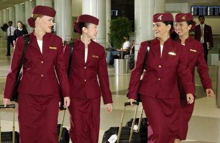 This is what the flight attendants wore.