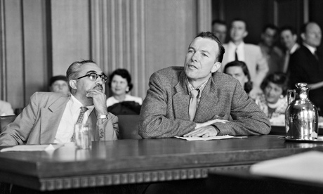 This is Pete Seeger testifying before the Un-American Activities Committee.