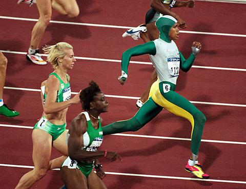 Cathy Freeman in the Sydney Olympics