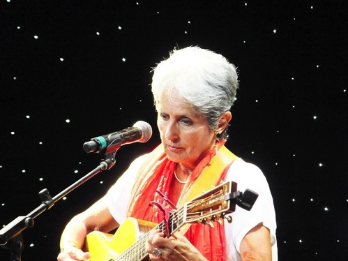 This is a recent photo of Joan Baez.  When she and America first sang We Shall Overcome, all of us had darker hair.