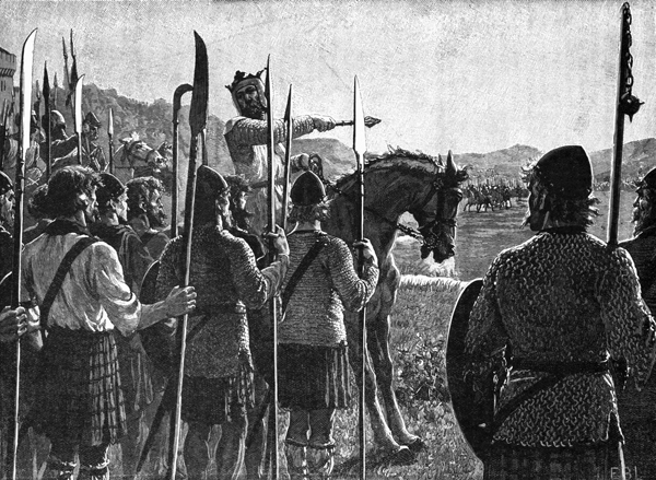 Description: Robert the Bruce fighting