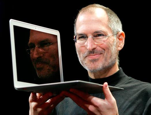 Steve Jobs was a happy inventor