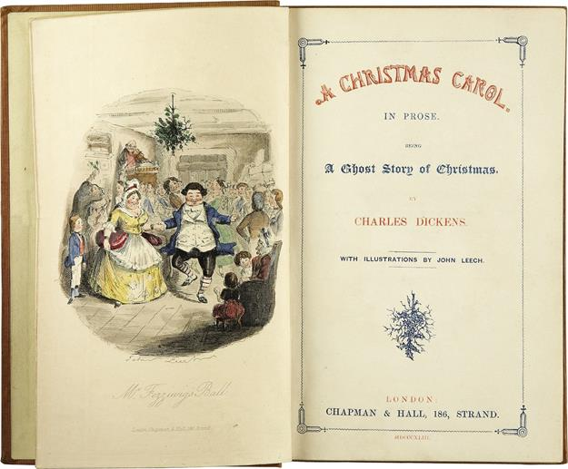 The first edition of A Christmas Carol