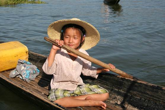 Girl at Inle Lake