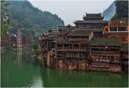 Description: https://upload.wikimedia.org/wikipedia/commons/thumb/d/df/1_fenghuang_ancient_town_hunan_china.jpg/1920px-1_fenghuang_ancient_town_hunan_china.jpg
