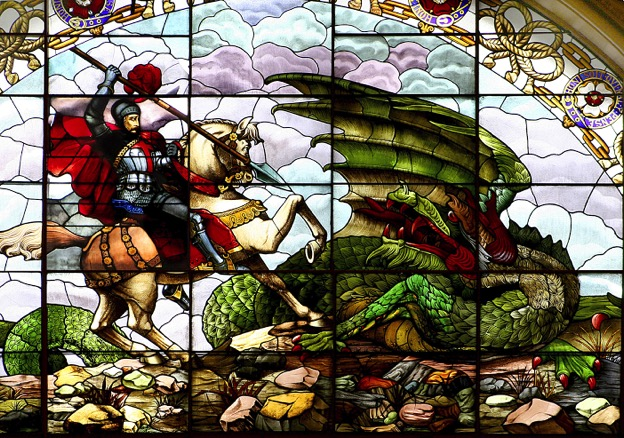 This is St. George slaying a dragon.