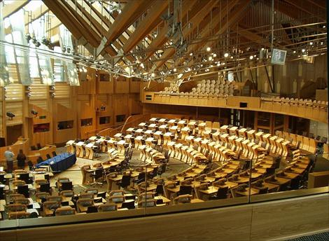 This is the Scottish Parliament today