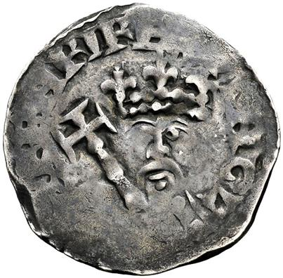 Henry II of England on a penny coin...in time the royal we seems to be fading