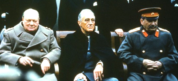 Churchill, FDR, and Stalin at Yalta in the Crimea