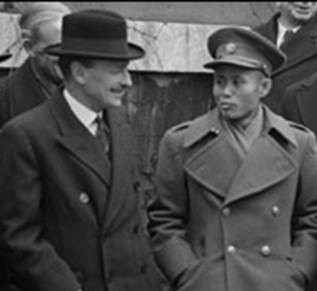 Clement Attlee and General Aung San in January 1947