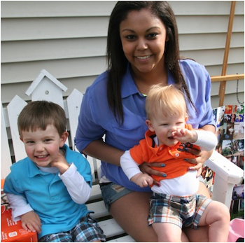 Description: Ayanna with Jack and Owen