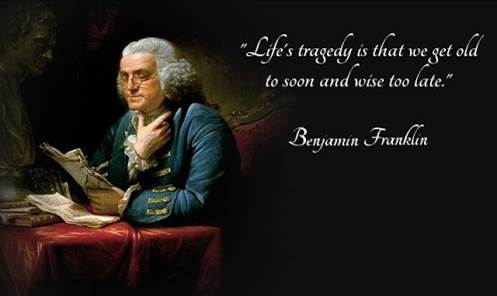 Franklin spoke,and we should listen.